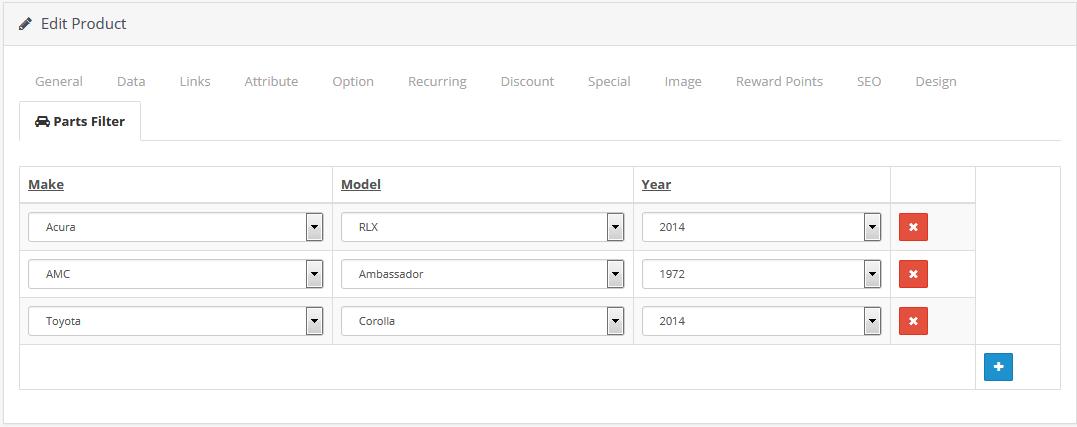 Фильтр автотоваров по модели, марке и году для OpenCart и ocStore изображение №5