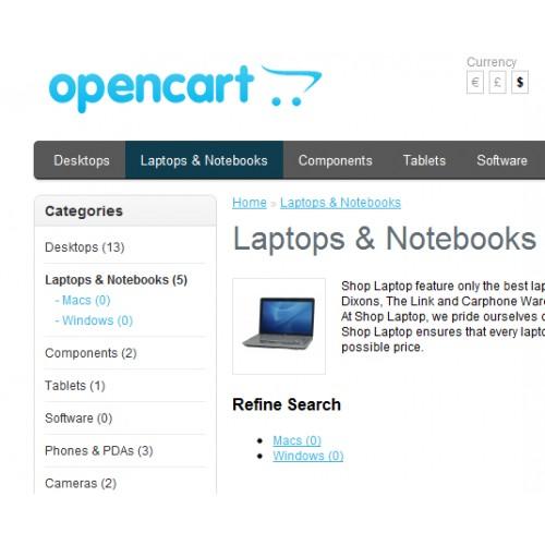 Подсветка активной категории в главном меню для OpenCart и ocStore изображение №3