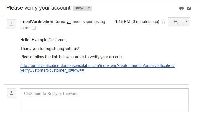 Emailverification - aктивация новых покупателей по email для OpenCart и ocStore изображение №4