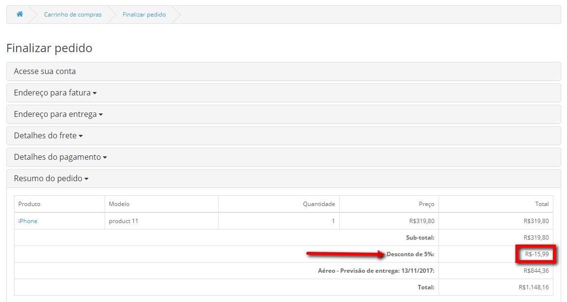 Скидка в процентах от типа покупателя и метода оплаты для OpenCart и ocStore изображение №3