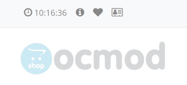 Часы в шапке сайта для OpenCart и ocStore изображение №2