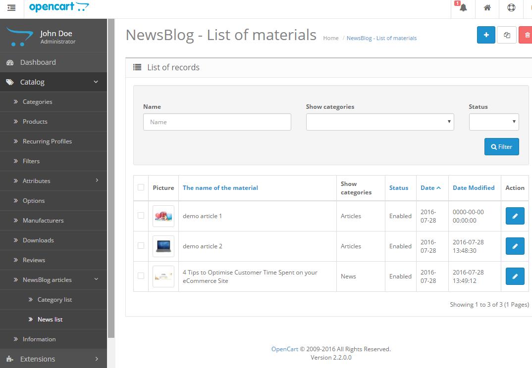 Newsblog - новостной блог с категориями для OpenCart и ocStore изображение №4
