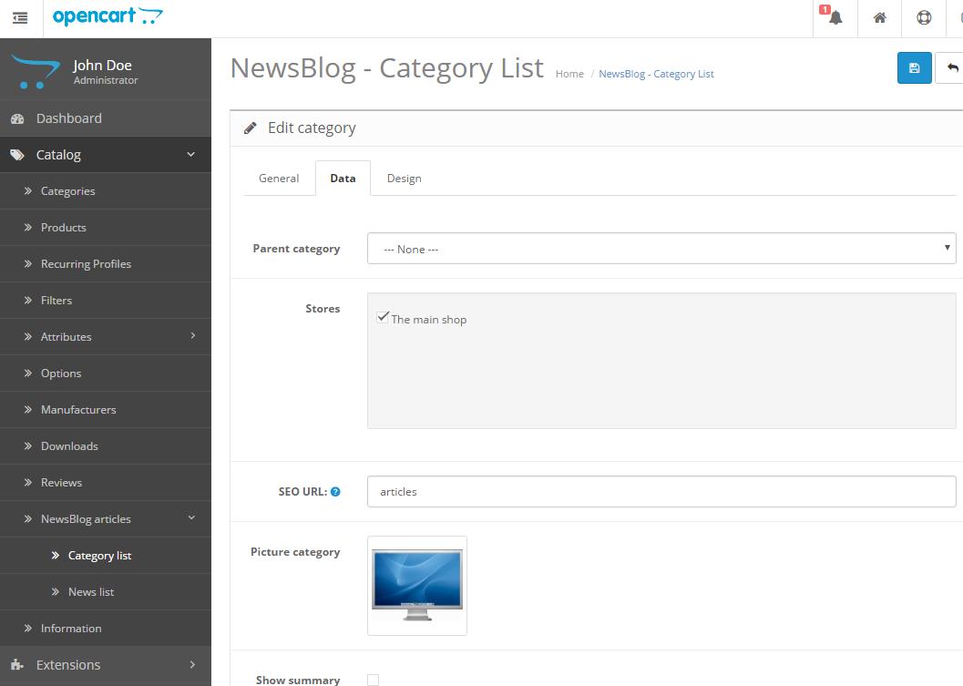 Newsblog - новостной блог с категориями для OpenCart и ocStore изображение №6