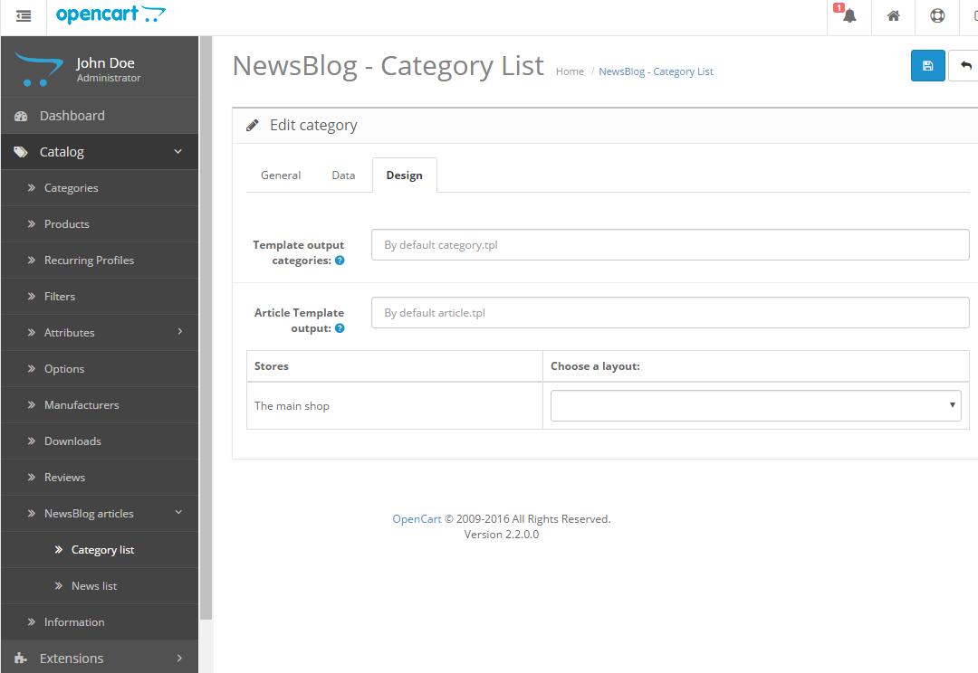 Newsblog - новостной блог с категориями для OpenCart и ocStore изображение №8