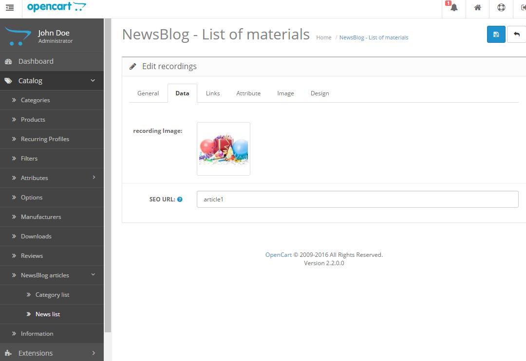 Newsblog - новостной блог с категориями для OpenCart и ocStore изображение №9