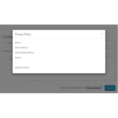 Agree ContactForm - условия конфиденциальности в форме обратной связи для OpenCart и ocStore изображение №5