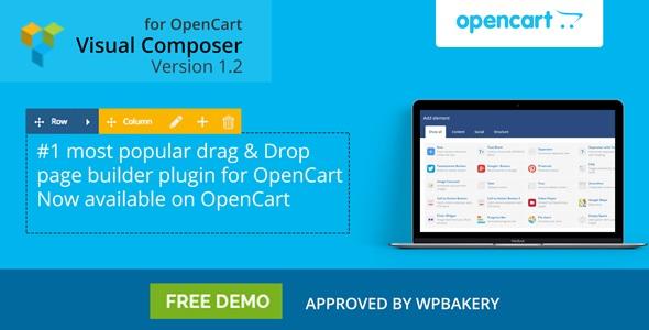 Visual Composer: конструктор страниц с перетаскиванием для OpenCart и ocStore