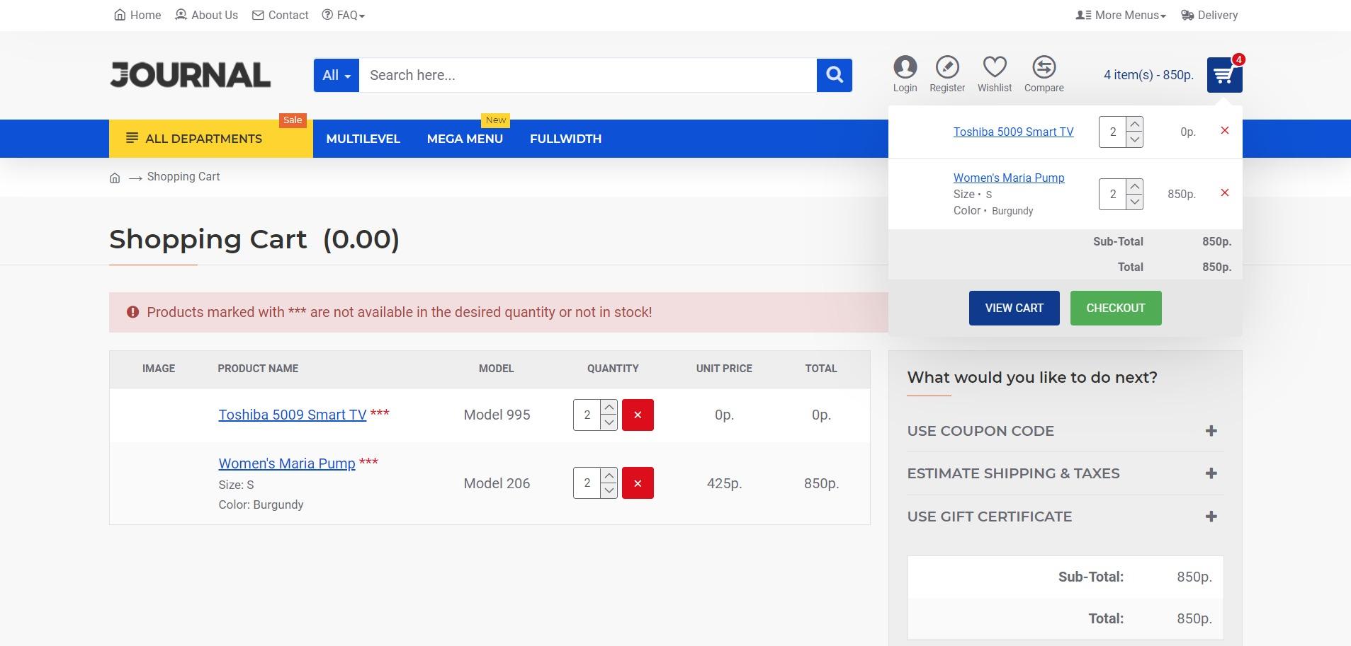Обновление количества товаров в корзине для OpenCart и ocStore изображение №3