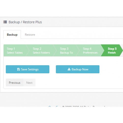 Резервное копирование / восстановление (Backup - Restore Plus) для OpenCart и ocStore изображение №6