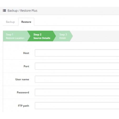 Резервное копирование / восстановление (Backup - Restore Plus) для OpenCart и ocStore изображение №7