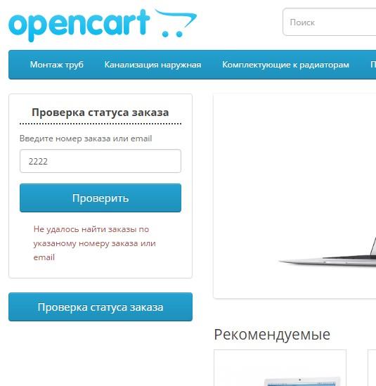 Проверка статуса заказа на сайте для OpenCart и ocStore изображение №4