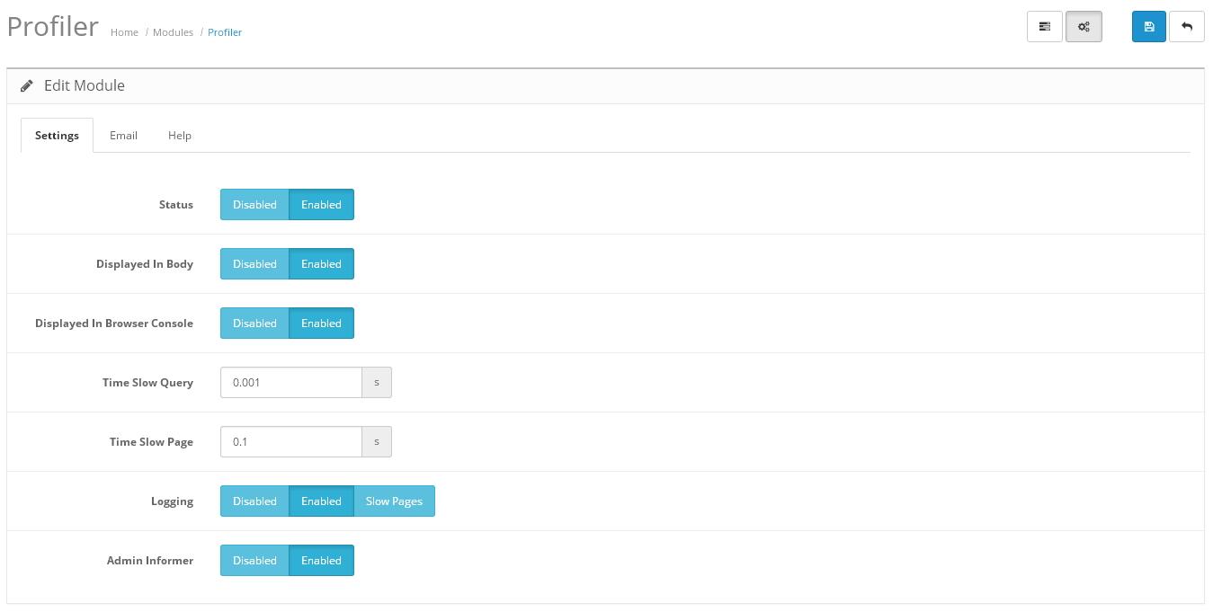 SQL Profiler с уведомлениями по электронной почте и информированием в админке для OpenCart и ocStore