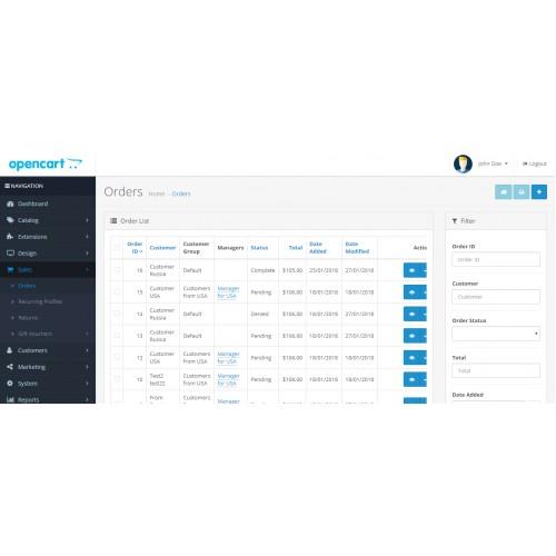 Менеджеры для клиентов для OpenCart и ocStore изображение №3