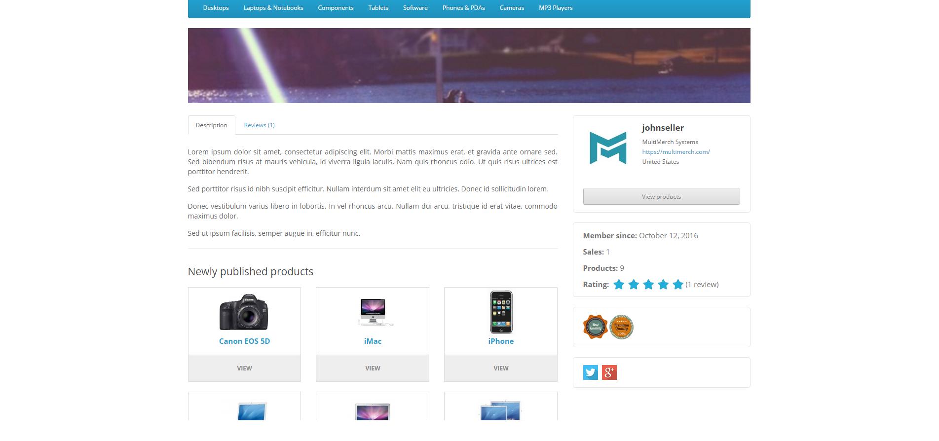 MultiMerch Marketplace Professional - мультивендорная платформа для продавцов v8.9 для OpenCart и ocStore изображение №16