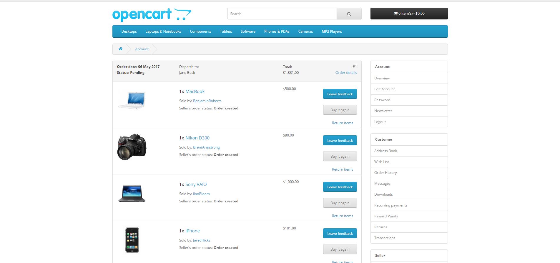 MultiMerch Marketplace Professional - мультивендорная платформа для продавцов v8.9 для OpenCart и ocStore изображение №8