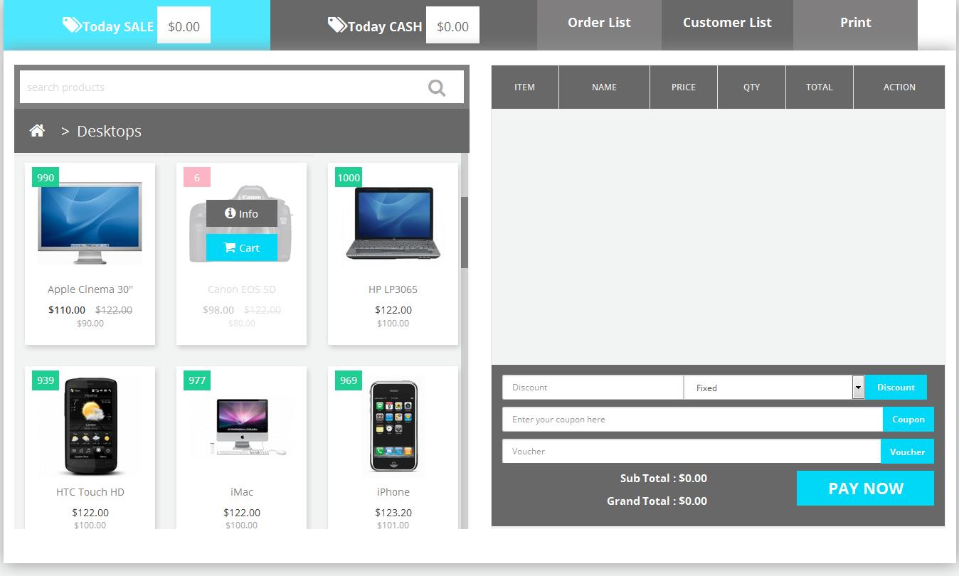 Торговая точка POS для OpenCart и ocStore изображение №3