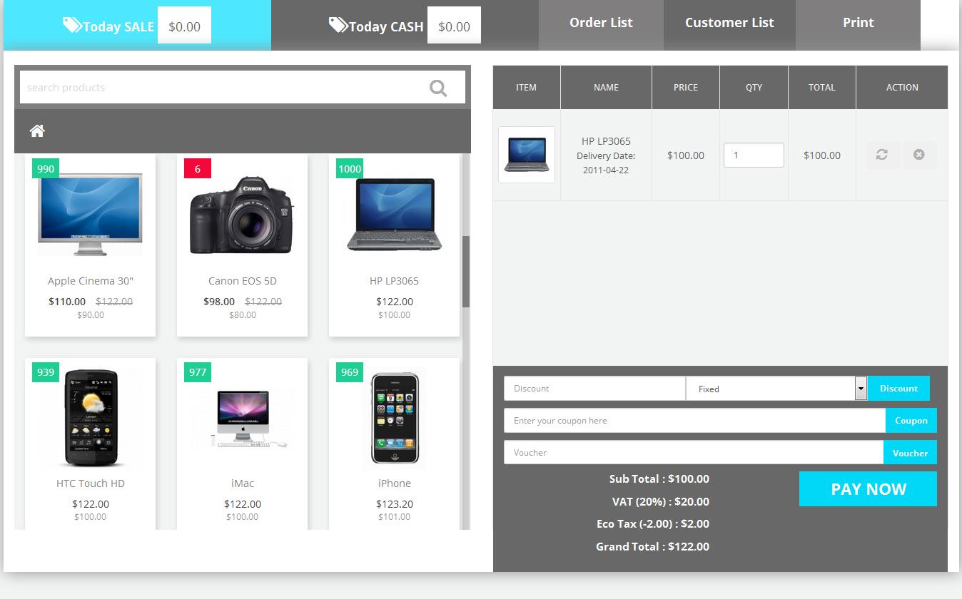 Торговая точка POS для OpenCart и ocStore изображение №5