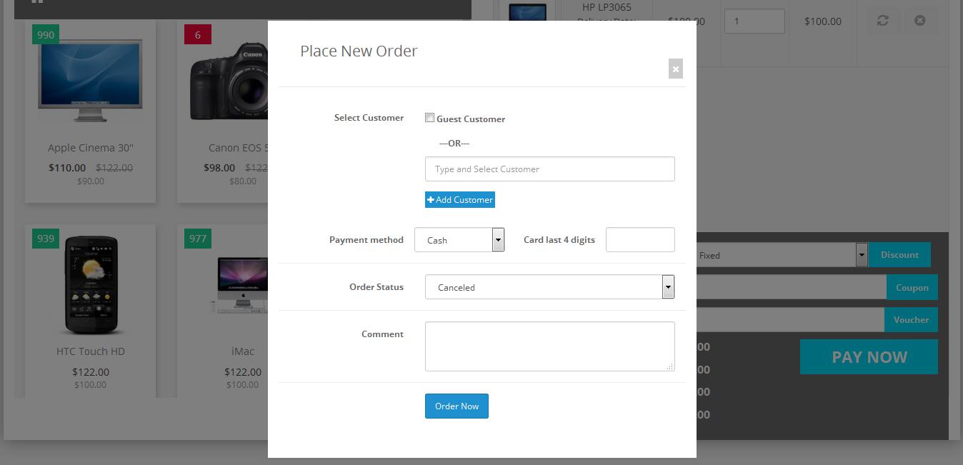 Торговая точка POS для OpenCart и ocStore изображение №6