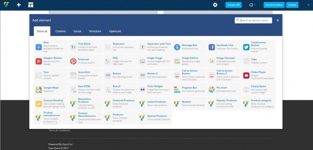Visual Composer: конструктор страниц с перетаскиванием для OpenCart и ocStore изображение №2