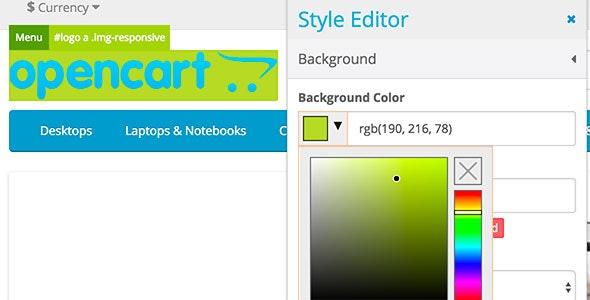 Визуальный редактор тем для OpenCart и ocStore