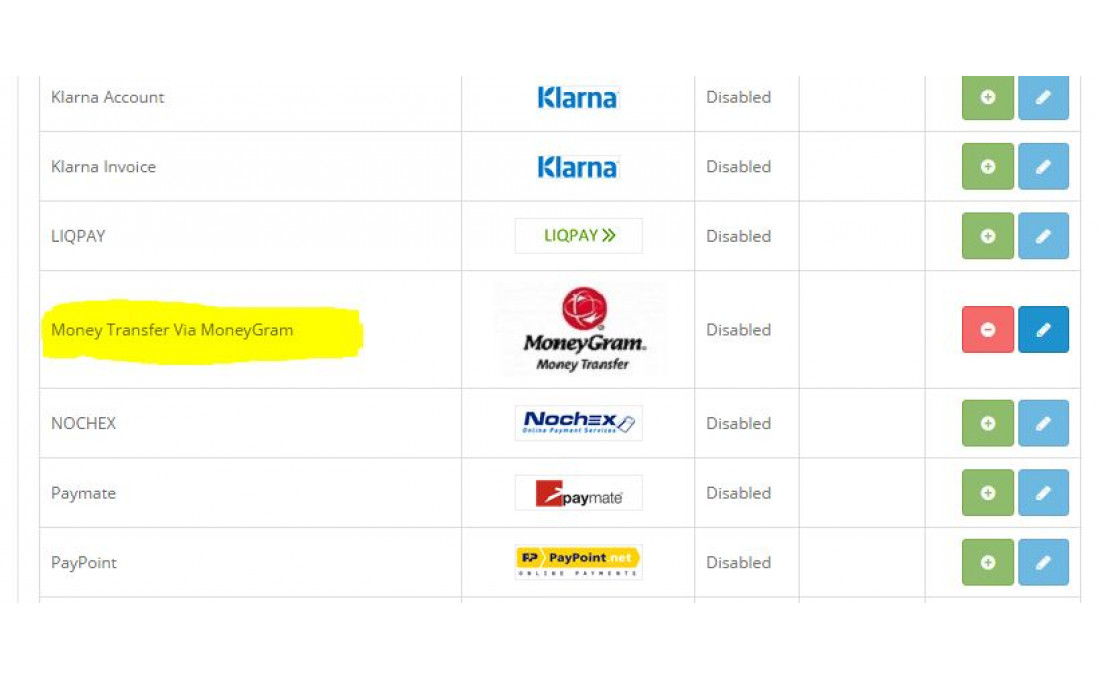 Модуль оплаты MoneyGram для OpenCart и ocStore изображение №2
